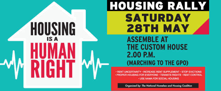 Housing Rally Custom House at 2pm this coming Saturday 28th May